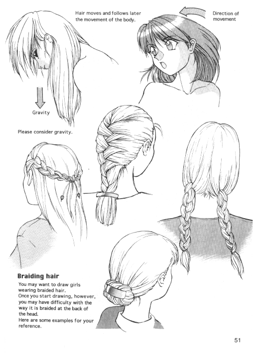 How to Highlight Hair Drawing How to Draw Human Hair And